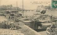 """49 Maine Et Loire / CPA FRANCE 49 """"Angers, la maine vue des quais"""" / PENICHE"""