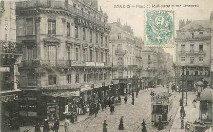 """/ CPA FRANCE 49 """"Angers, place du ralliement et rue Lenepveu"""""""