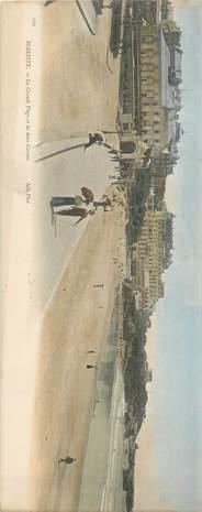 "CPA PANORAMIQUE FRANCE 64 ""Biarritz, la grande plage"""