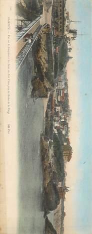 """CPA PANORAMIQUE FRANCE 64 """"Biarritz, vue sur le sémaphore et les Bains du Port Vieux"""""""