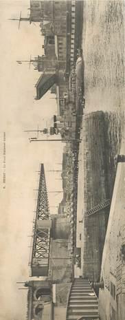 "CPA PANORAMIQUE FRANCE 29 ""Brest, le Pont national ouvert"""