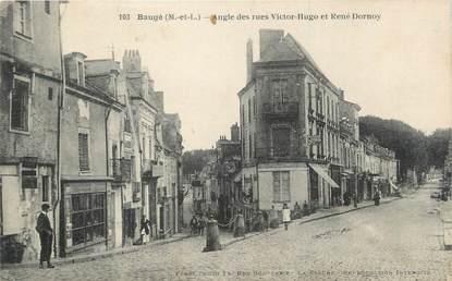 "/ CPA FRANCE 49 ""Baugé, angle des rues Victor Hugo et Renée Dornoy"""
