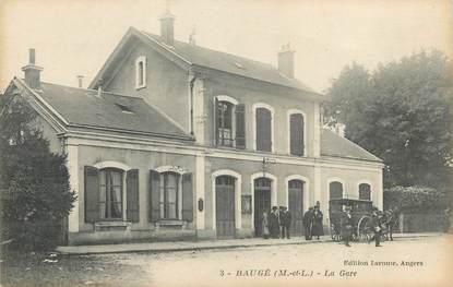 """/ CPA FRANCE 49 """"Baugé, la gare"""""""
