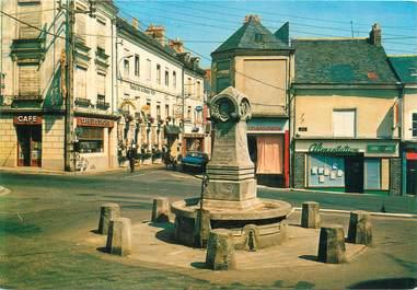 """/ CPSM FRANCE 49 """"Baugé, la fontaine du Roi René"""""""