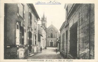 """/ CPA FRANCE 49 """"La Possonnière, rue de l'église"""""""