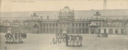 """/ CPA PANORAMIQUE FRANCE 75007 """"Paris, école militaire, l'instruction"""""""