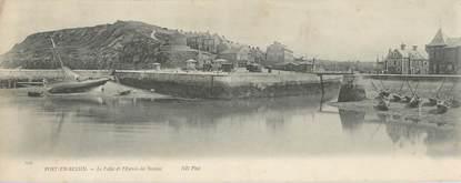 """CPA PANORAMIQUE FRANCE 14 """"Port en Bessin, Le Pollet et l'entrée des bassins"""" / BATEAU"""
