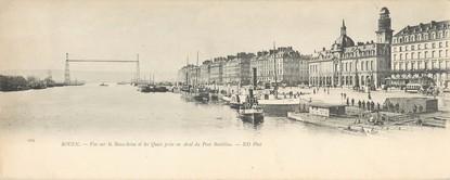 """CPA PANORAMIQUE FRANCE 76 """"Rouen, vue sur la Basse Seine et les quais"""""""