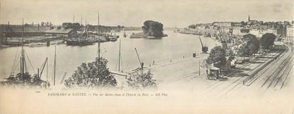 """CPA PANORAMIQUE FRANCE 44 """"Panorama de Nantes, vue sur Sainte Anne et l'entrée du port"""""""