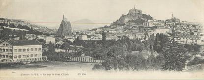 "CPA PANORAMIQUE FRANCE 43 ""Panorama du Puy, vue prise du Rocher d'Espaly"""
