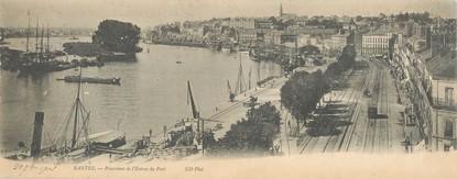 """CPA PANORAMIQUE FRANCE 44 """"Nantes, panorama de l'entrée du port"""""""