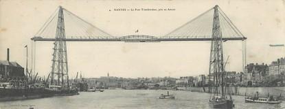 """CPA PANORAMIQUE FRANCE 44 """"Nantes, le pont transbordeur"""""""