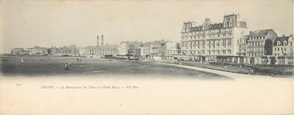 """CPA PANORAMIQUE FRANCE 76 """"Dieppe, la manufacture des tabacs et l'hôtel Royal"""""""