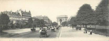 """CPA PANORAMIQUE FRANCE 75008 """"Paris, l'avenue du Bois de Boulogne"""""""