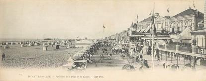 """CPA PANORAMIQUE FRANCE 14 """"Trouville sur Mer, panorama de la plage et du casino"""""""