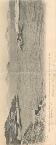 """CPA PANORAMIQUE FRANCE 13 """"Marseille, panorama du Chateau d'If et des Iles du Frioul"""""""