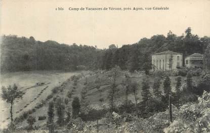 """CPA FRANCE 47 """"Camp de vacances de Vérone, vue générale"""""""