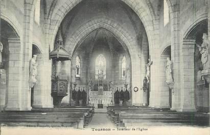 """CPA FRANCE 47 """"Tournon, intérieur de l'église"""""""
