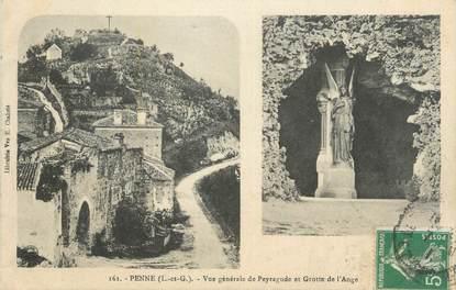 """CPA FRANCE 47 """"Penne, vue générale de Peyragude"""""""
