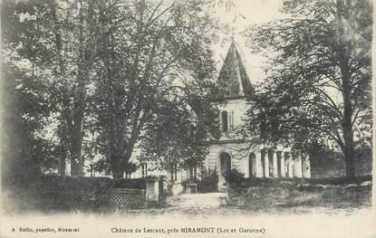 """CPA FRANCE 47 """"Château de Lescaut"""""""