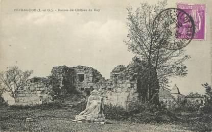 "CPA FRANCE 47 ""Peyragude, ruines du château du Roy"""