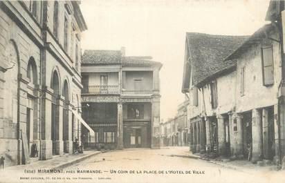 """CPA FRANCE 47 """"Miramont, un coin de la place de l'hôtel de ville"""""""