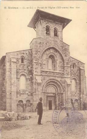 """CPA FRANCE 47 """"Moirax, portail de l'église"""""""