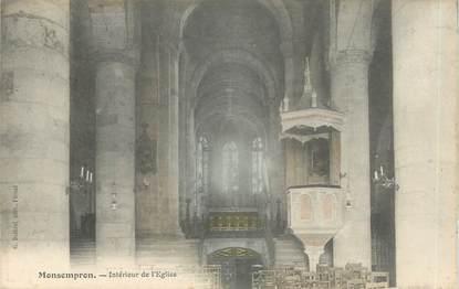 """CPA FRANCE 47 """"Monsempron, intérieur de l'église"""""""