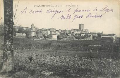"""CPA FRANCE 47 """"Monsempron, vue générale """""""