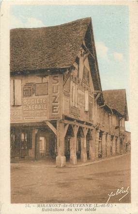 "CPA FRANCE 47 ""Miramont de Guyenne, habitations du XVIè siècle"""