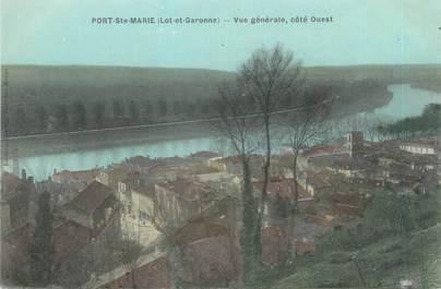 """CPA FRANCE 47 """"Port Sainte Marie, vue générale"""""""