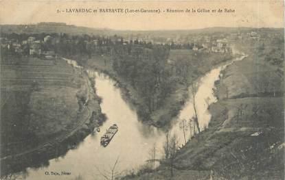 """CPA FRANCE 47 """"Lavardac et Barraste, réunion de la Gélise et de Baïse"""""""