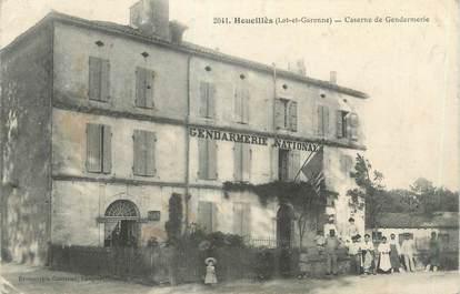 """CPA FRANCE 47 """"Houeillès, caserne de gendarmerie"""""""