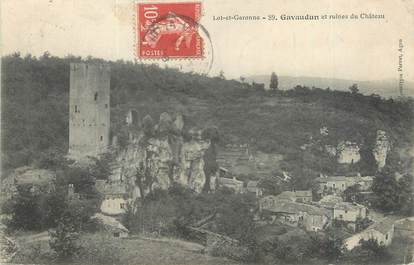 "CPA FRANCE 47 ""Gavaudun et ruines du château"""