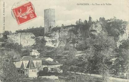 """CPA FRANCE 47 """"Gavaudun, la tour et la vallée"""""""