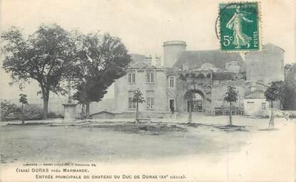 """CPA FRANCE 47 """"Duras, entrée principale du château du Duc de Duras"""""""