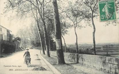 """CPA FRANCE 47 """"Aiguillon, avenue de la gare"""""""