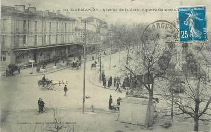 """CPA FRANCE 47 """"Marmande, avenue de la gare"""""""