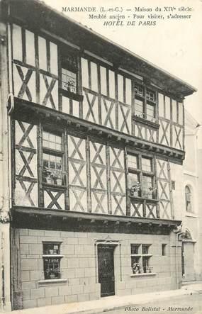"""CPA FRANCE 47 """"Marmande, maison du XIVè siècle, hôtel de Paris"""""""