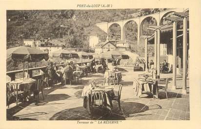 """CPA FRANCE 06 """"Pont du Loup, terrasse de la Réserve"""""""