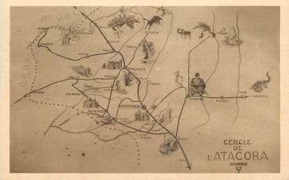 "CPA BÉNIN ""Natitingou, carte murale de l'Atacora""/ N° 87"