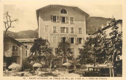 """CPA FRANCE 06 """"Saint Etienne de Tinée, hôtel de France"""""""