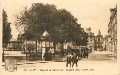 """CPA FRANCE 14 """"Caen, place de la République"""""""