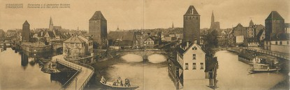 """CPA PANORAMIQUE FRANCE 67 """"Strasbourg, panorama pris de ponts couverts"""""""
