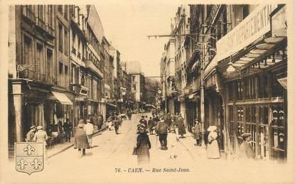"""CPA FRANCE 14 """"Caen, rue Saint Jean"""""""