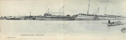 """CPA PANORAMIQUE FRANCE 17 """"Rochefort sur Mer, le port militaire"""""""