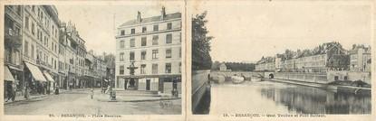 """CPA PANORAMIQUE FRANCE 25 """"Besançon, place Bacchus"""""""