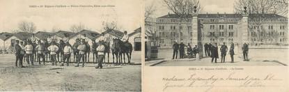 """CPA PANORAMIQUE FRANCE 30 """"Nimes, 49ème régiment d'Artillerie"""""""