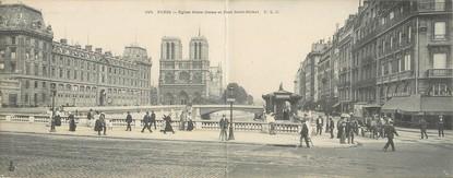 """CPA PANORAMIQUE FRANCE 75004 """"Paris, église Notre Dame"""""""