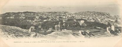 "CPA PANORAMIQUE FRANCE 13 ""Marseille, panorama de la Rade"""